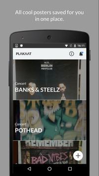 Plakaat - never miss events! apk screenshot