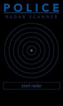 Police Radar Scanner simulated poster