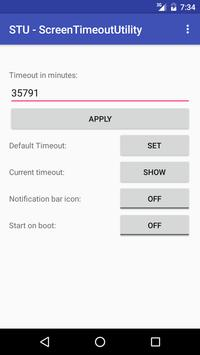 STU - Screen Timeout Utility poster