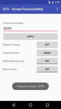 STU - Screen Timeout Utility apk screenshot