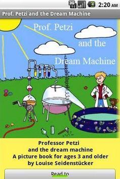 Petzi and the dream machine poster