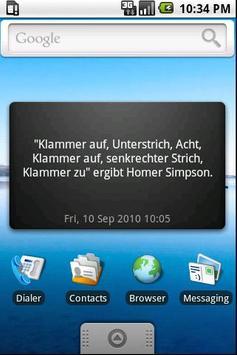 Unnützes Wissen Widget - BETA poster