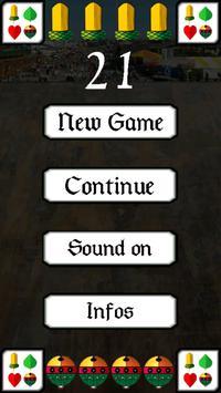 21 twenty one - card game poster