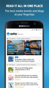 upday news for Samsung poster