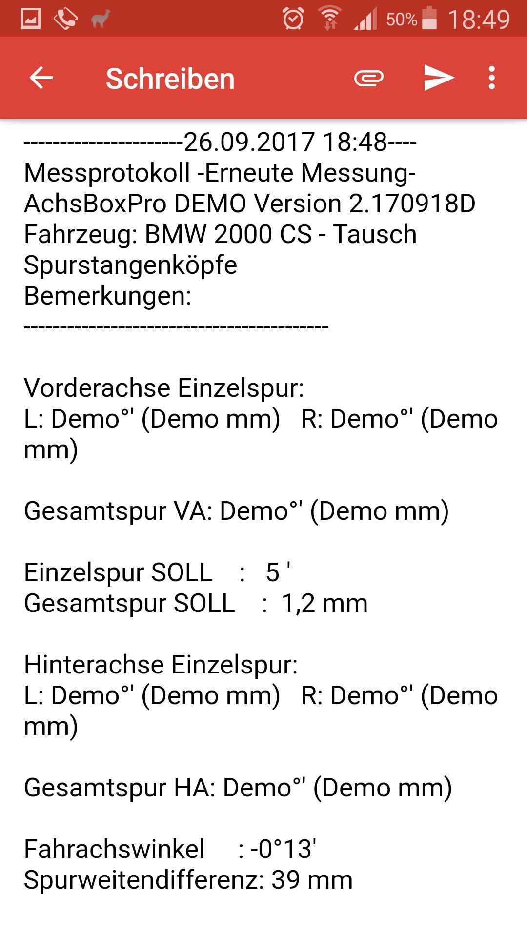 AchsBoxPro Demo Achsvermessung free poster