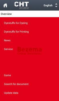 Bezema Colour Solutions. Dyestuff Range poster