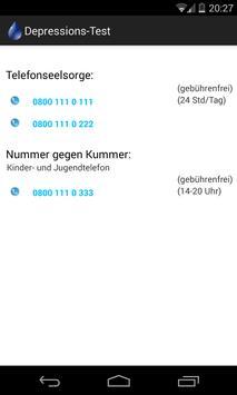 Depressions-Test apk screenshot