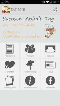 Sachsen-Anhalt-Tag 2015 Köthen poster