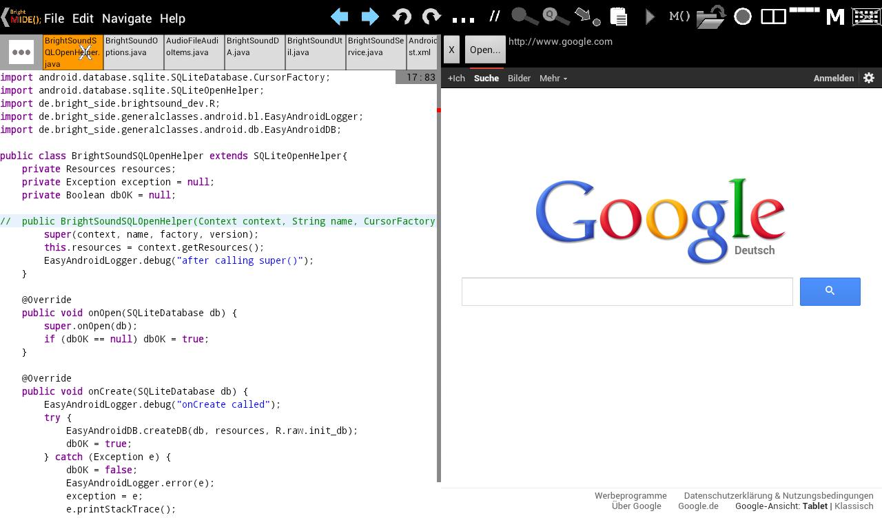 Bright M IDE: Java/Android IDE cho Android - Tải về APK