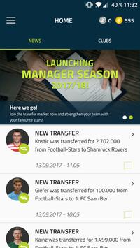 Football Stars – The Manager powered by kicker poster