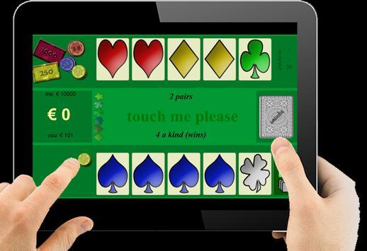 MINI POKER (free) for tablet apk screenshot