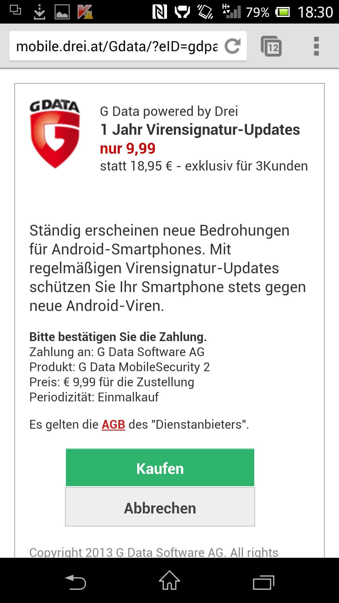 Pcs jahr data android g 2 internet 2 security 1 G Data