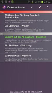Verkehrs Alarm poster