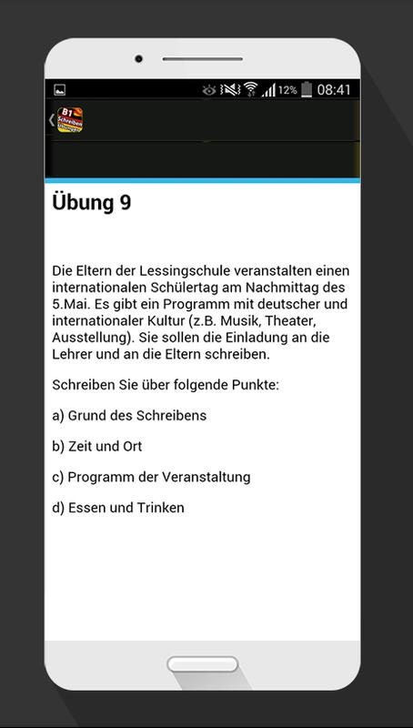 Brief Schreiben übungen B1 For Android Apk Download