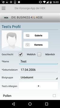 Die Vorsorge-App der HEK screenshot 2