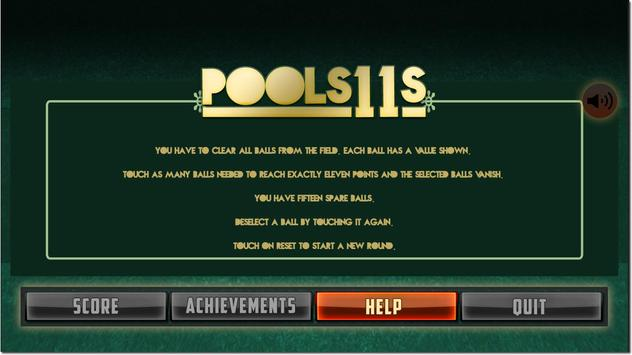 Pools11s apk screenshot