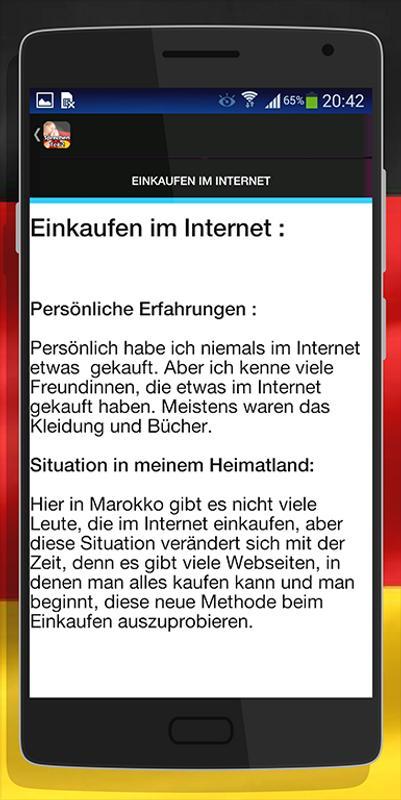 B1 Prüfung Sprechen Teil 2 для андроид скачать Apk