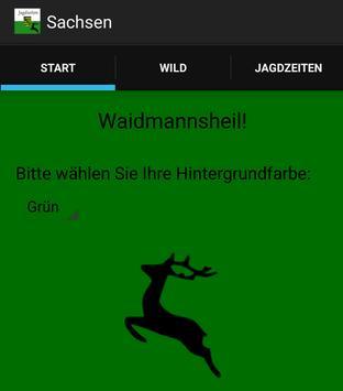 Jagdzeiten Sachsen poster