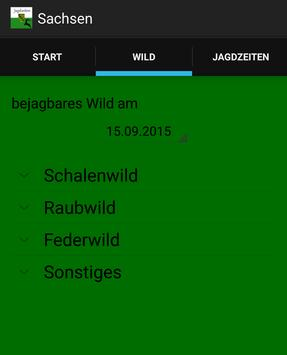 Jagdzeiten Sachsen apk screenshot