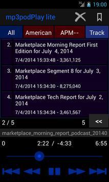 mp3podPlay lite Podcast Player screenshot 3