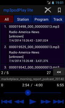 mp3podPlay lite Podcast Player screenshot 2