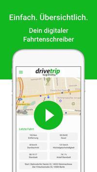 DriveTrip – Dein digitales Fahrtenbuch poster