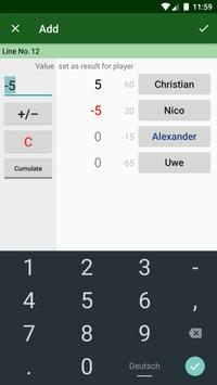 Simple Score Sheet apk screenshot