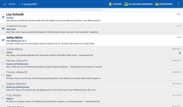 1&1 Mail captura de pantalla de la apk