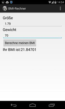 BMI-Rechner screenshot 1