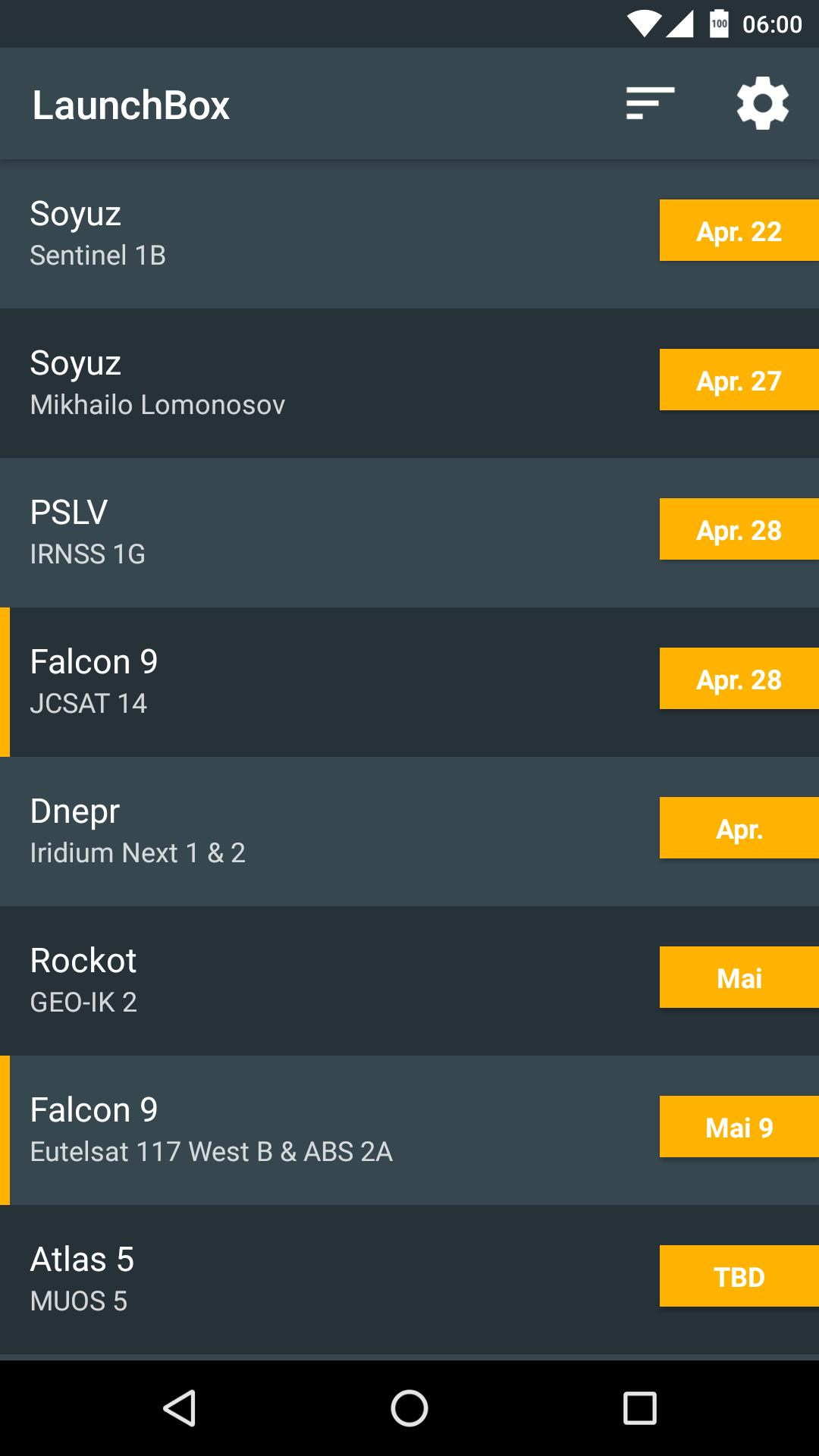LaunchBox - Launch Schedule for Android - APK Download