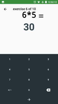Exercise Calculator — Improve calculation skills screenshot 1