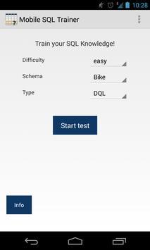 SQL Trainer apk screenshot