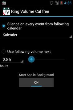 Ringer Volume Calendar (free) apk screenshot