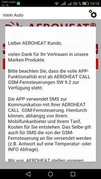 AEROHEAT CALL GSM screenshot 2