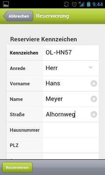 KDO-Wunschkennzeichen screenshot 4