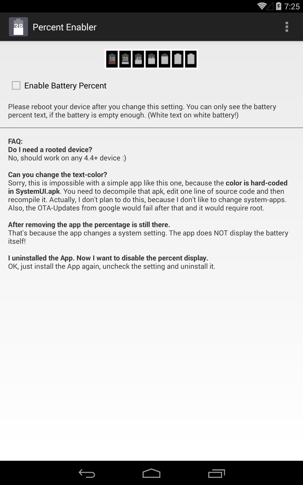 Battery Percent Enabler for Android - APK Download