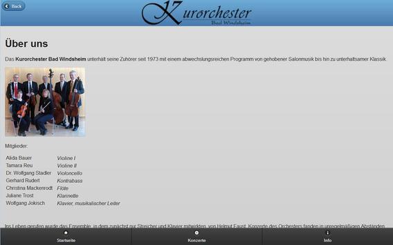 Kurorchester Bad Windsheim apk screenshot