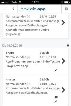 KWP zeiterfassung apk screenshot