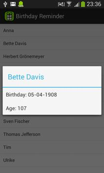 Birthday Reminder apk screenshot