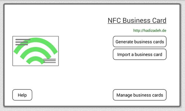NFC Business Card poster