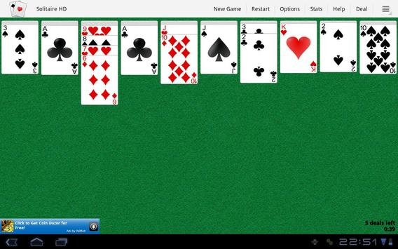 Solitaire HD apk screenshot