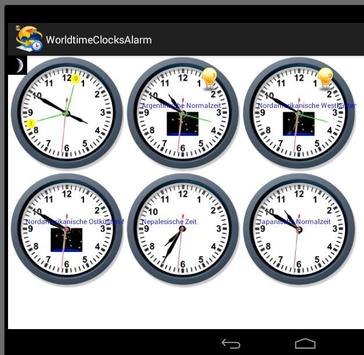 WorldtimeClocksAlarm apk screenshot