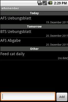 eRemember screenshot 1