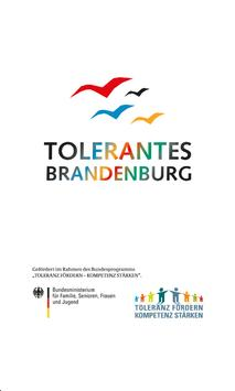 Tolerantes Brandenburg poster
