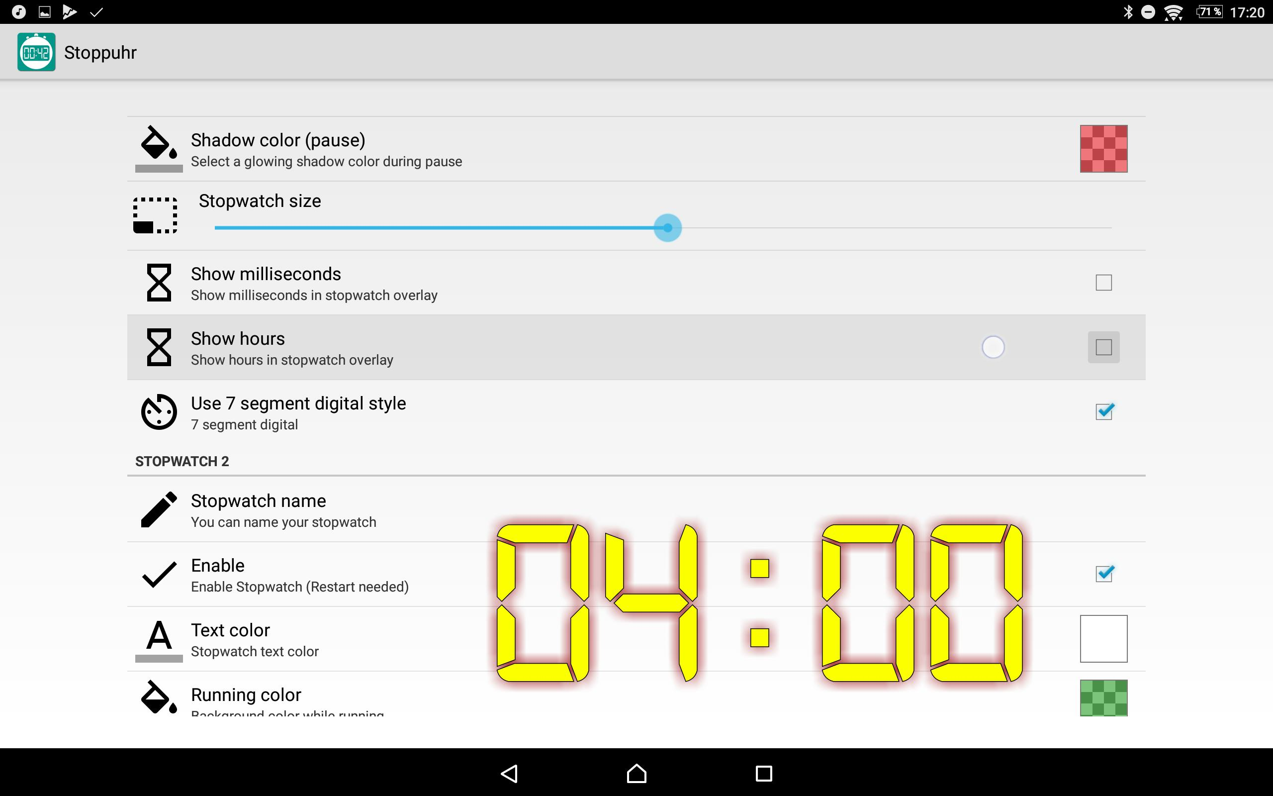 Floating Stopwatch, free multitasking timer for Android