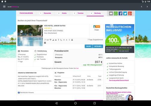 Onlinereisesuche apk screenshot