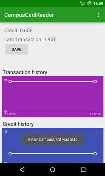 Campus Card Reader apk screenshot