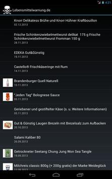 Lebensmittelwarnung apk screenshot