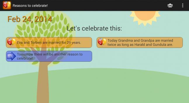 Reasons to celebrate apk screenshot