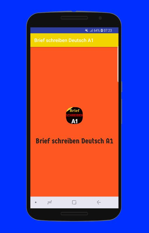 Brief Schreiben Deutsch A1 For Android Apk Download